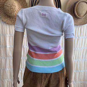 Dolce & Gabbana Retro Striped Knit Tee